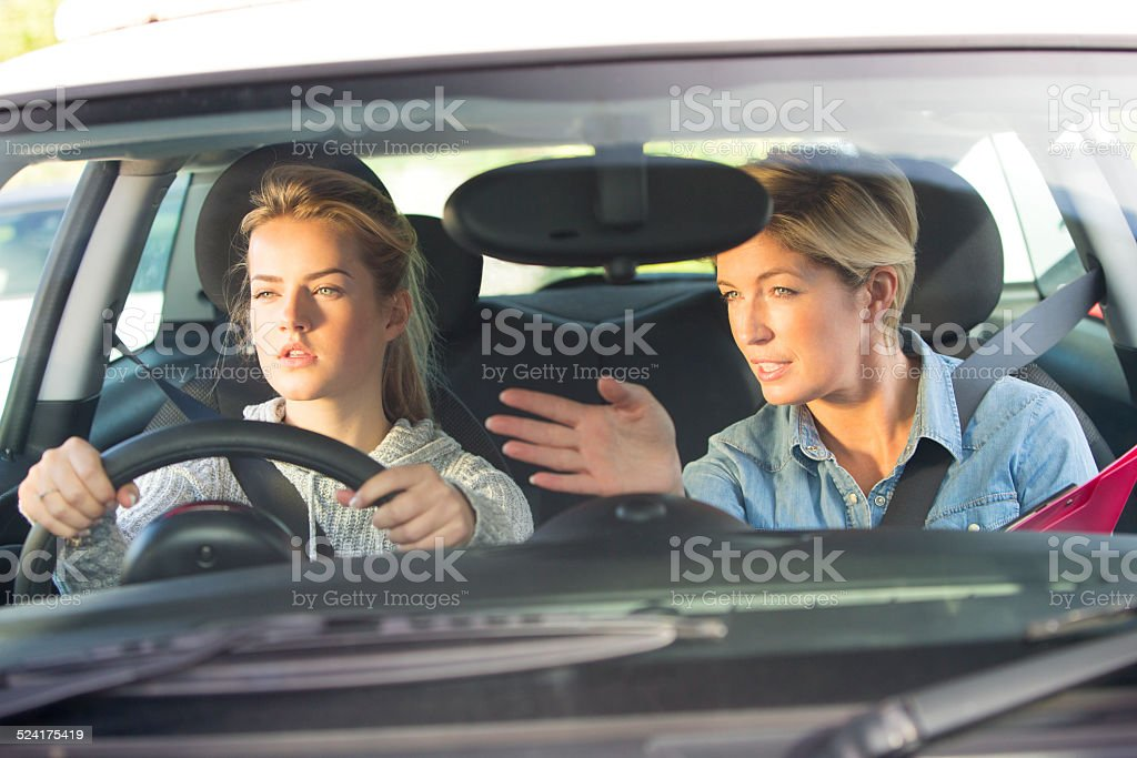 Learning to Drive stock photo