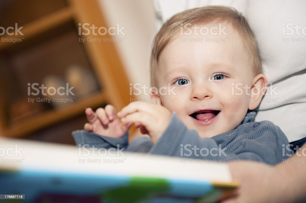 Learning to read stock photo