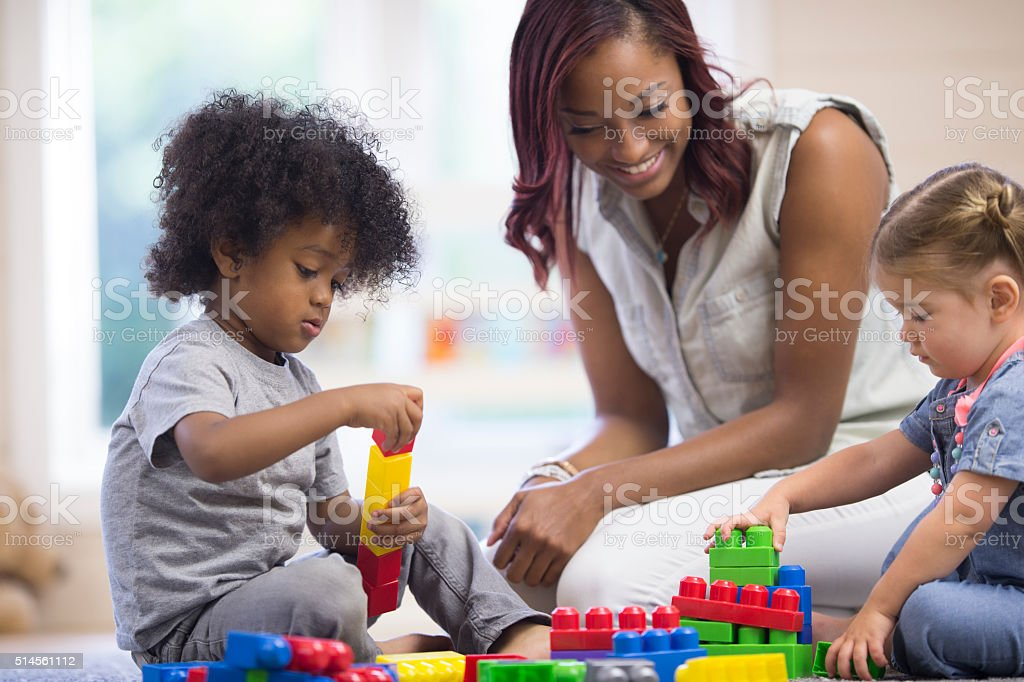 Learning to Share Toys stock photo