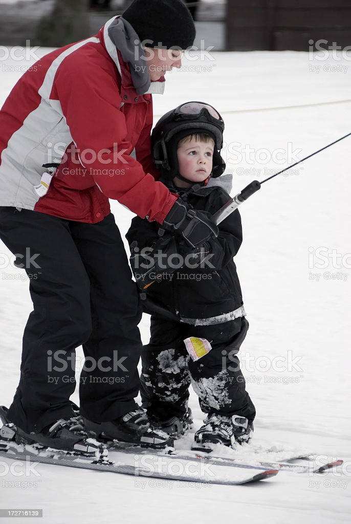 Learning to Snowboard royalty-free stock photo