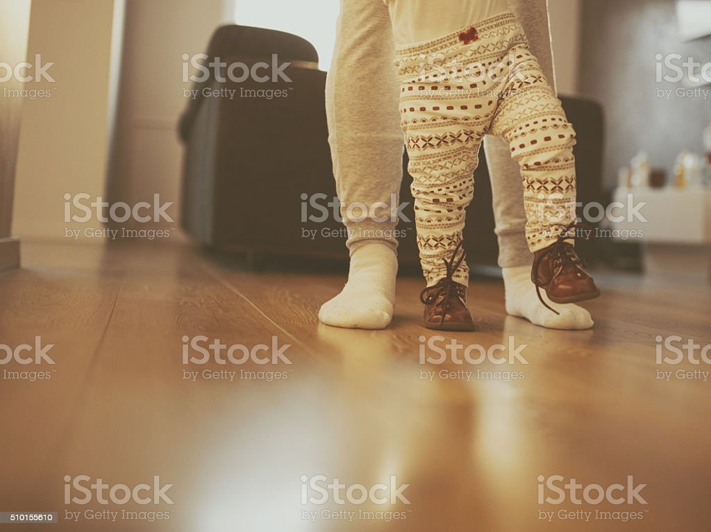 Learning to Walk stock photo