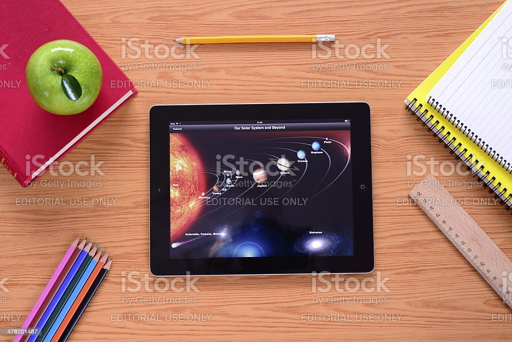 Learning with iPad stock photo