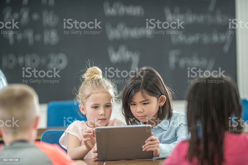 Learning with Technology stock photo