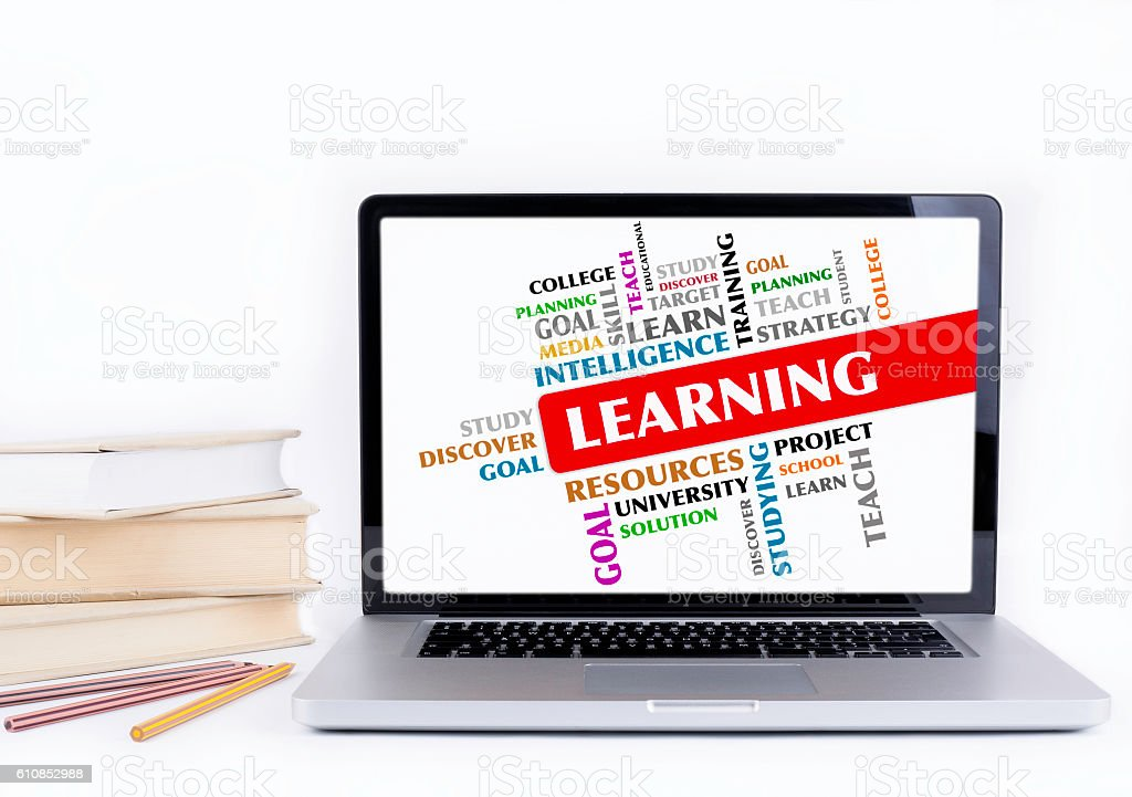 Learning - word cloud, education concept stock photo