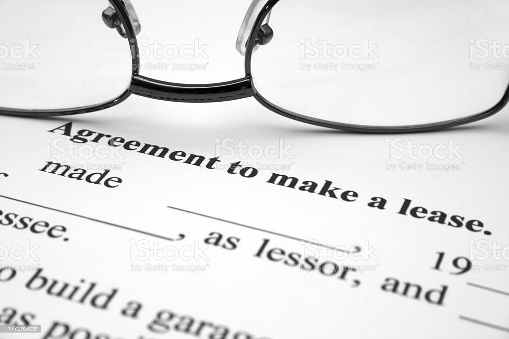 Lease agreement royalty-free stock photo
