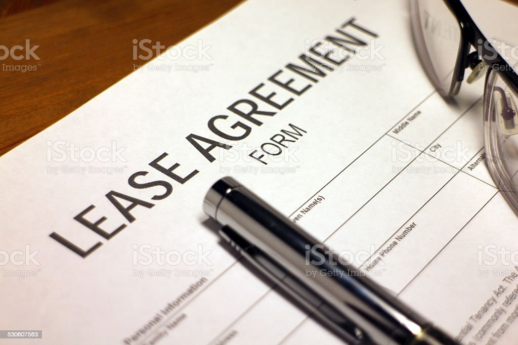 Lease Paperwork stock photo