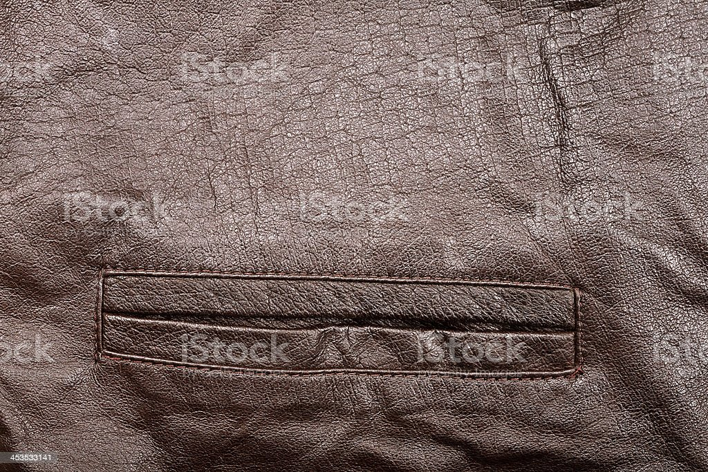 Leather and pocket royalty-free stock photo