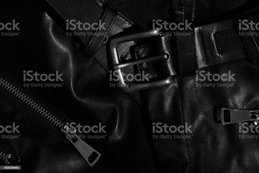 leather and zippers stock photo