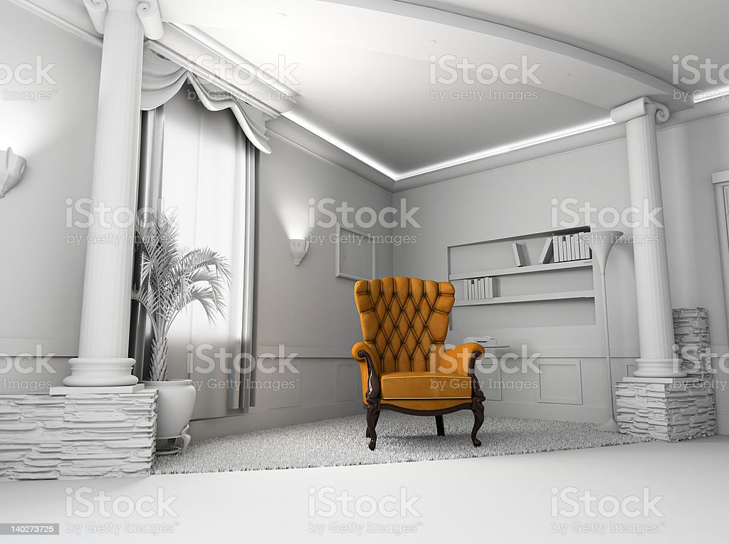 Leather  armchair royalty-free stock photo