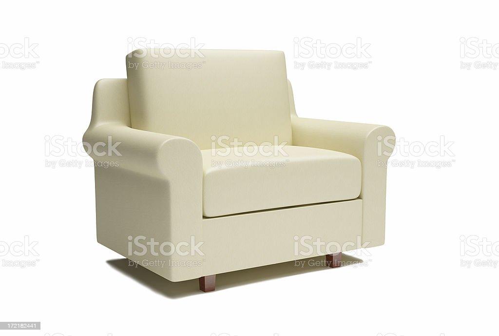 Leather Armchair / XXL royalty-free stock photo