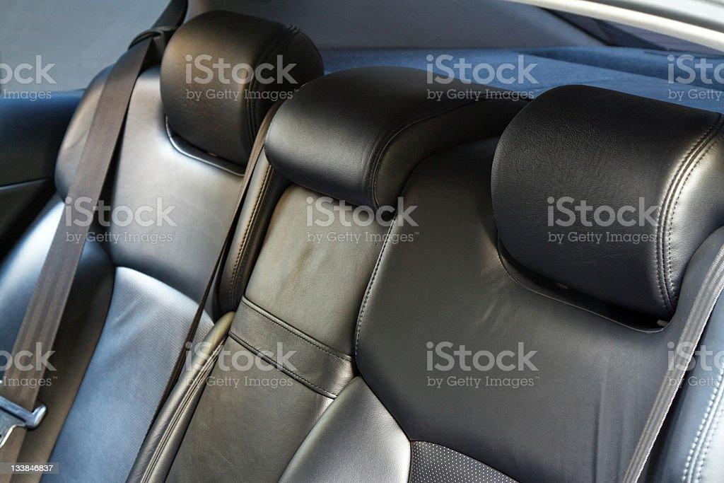 Leather back car seats stock photo