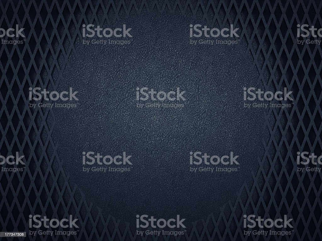 Leather background with circle and meshy pattern stock photo
