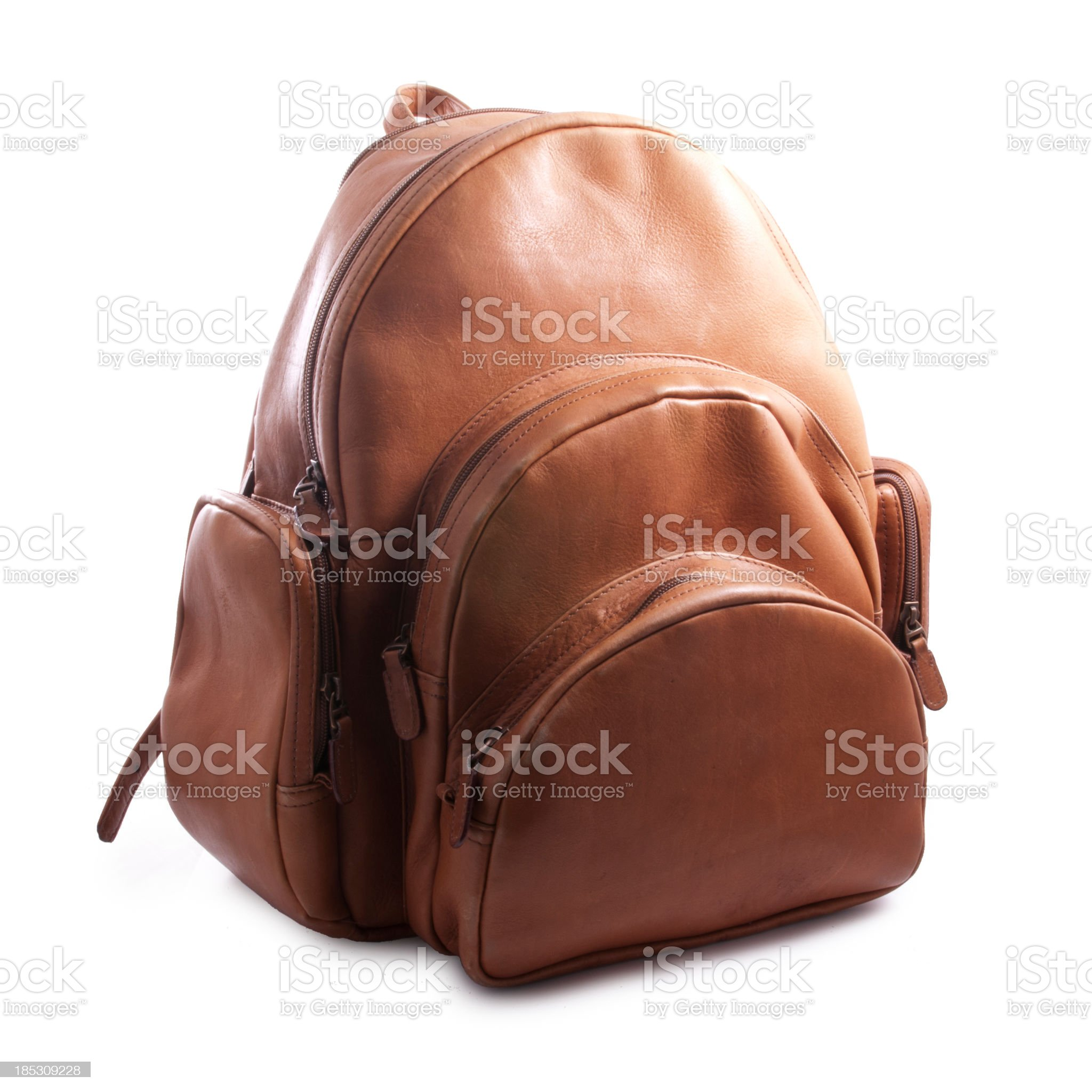 Leather Backpack royalty-free stock photo