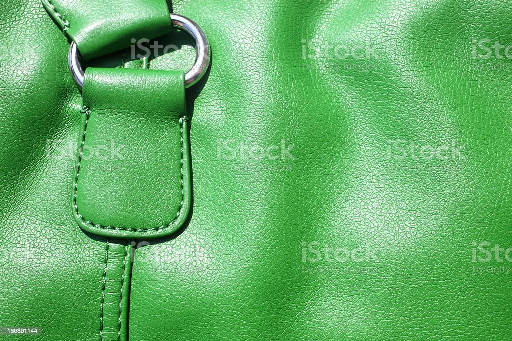 leather bag detail stock photo