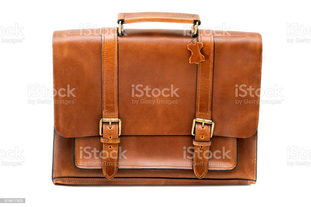 Leather bag stock photo