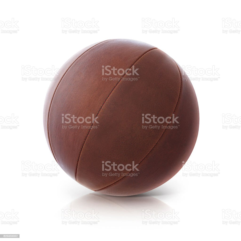 Leather ball 3D illustration stock photo