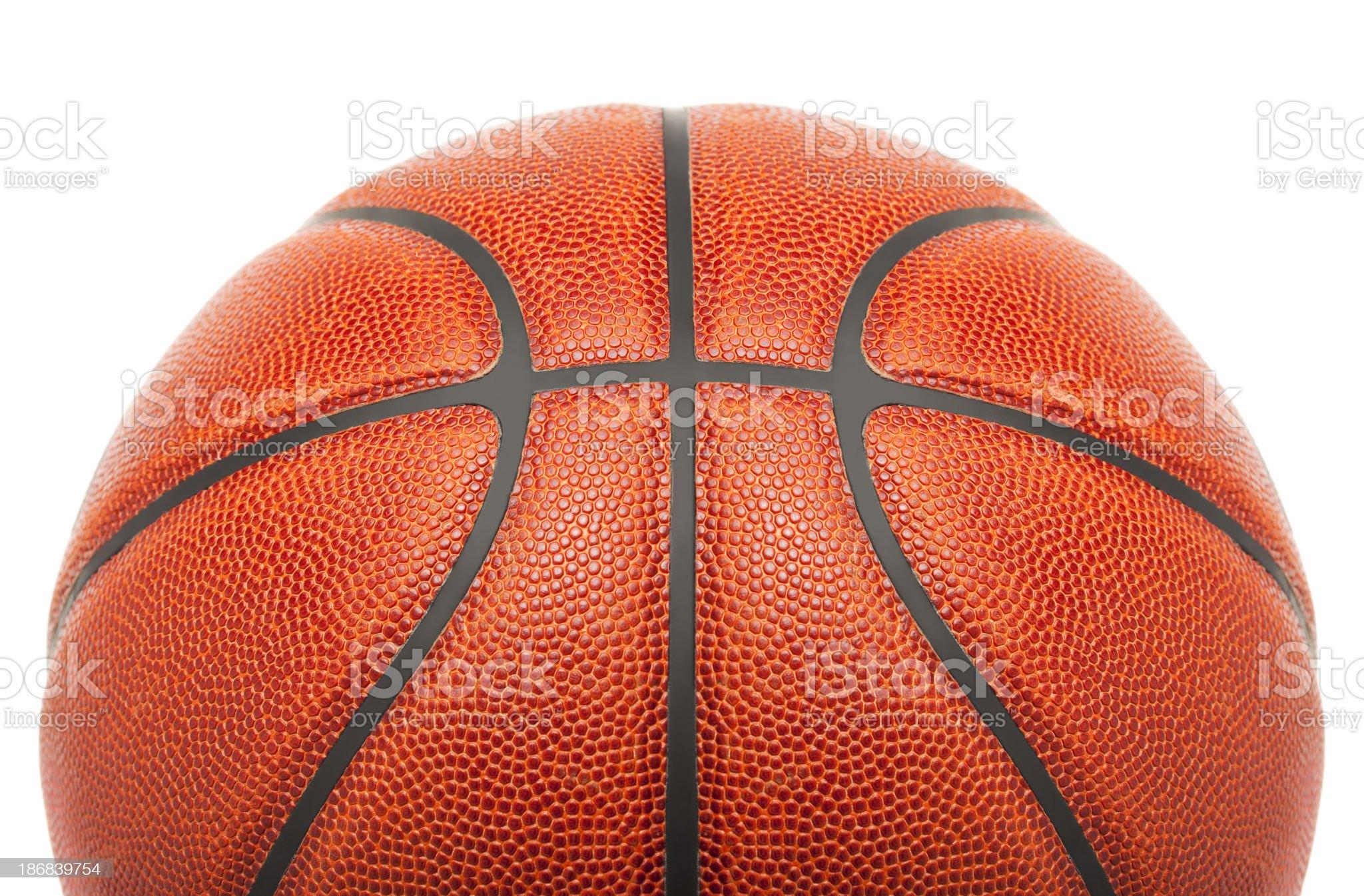 Leather Basketball Isolated on White royalty-free stock photo