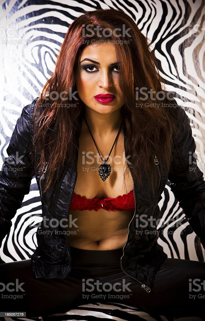 Leather Beauty royalty-free stock photo
