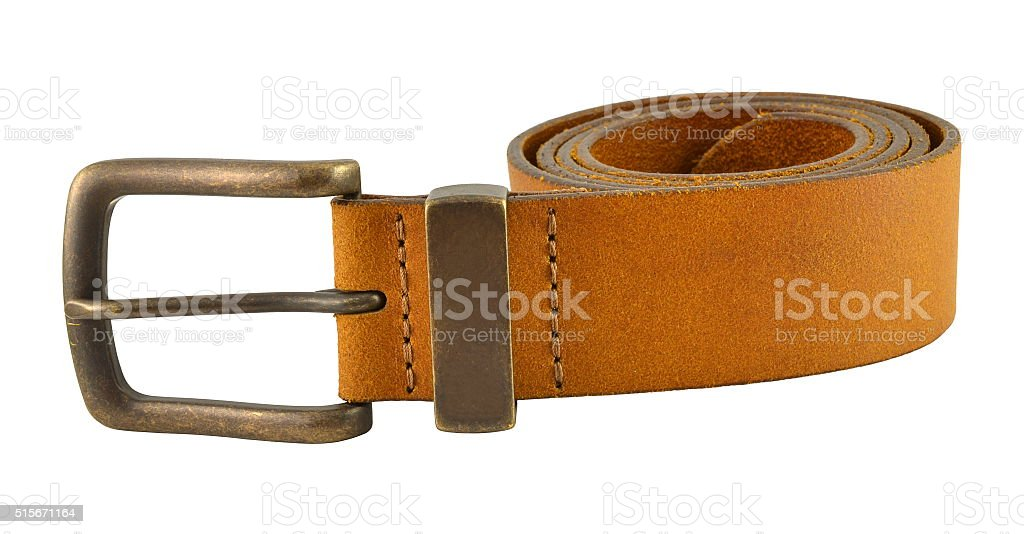 Leather belt for trousers stock photo