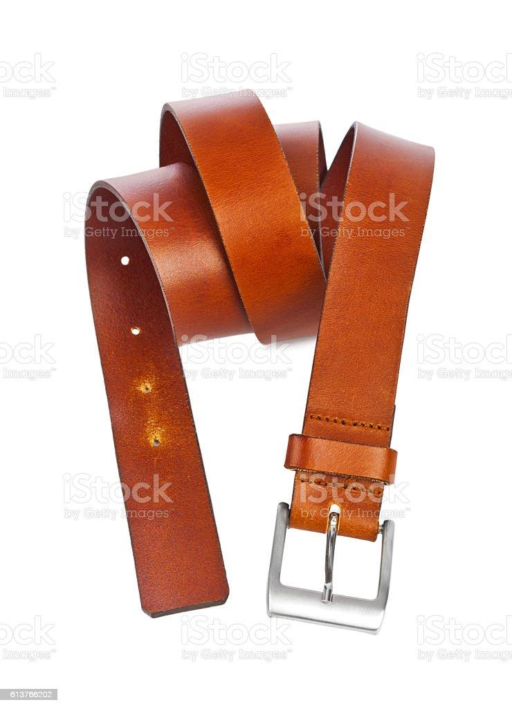 Leather belt stock photo