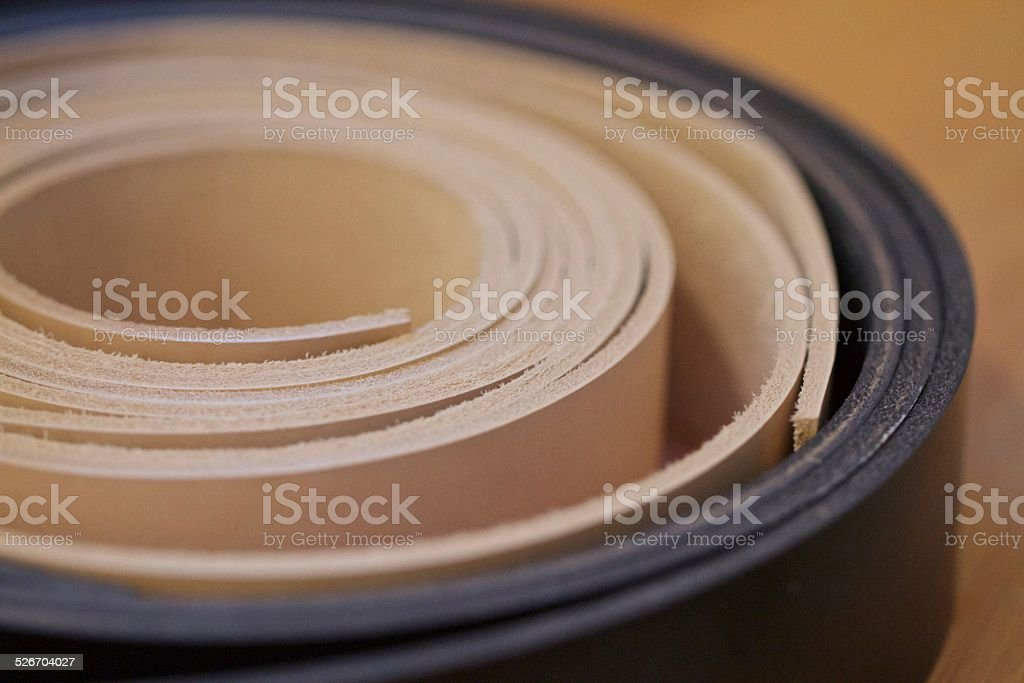 Leather Belt Strips stock photo