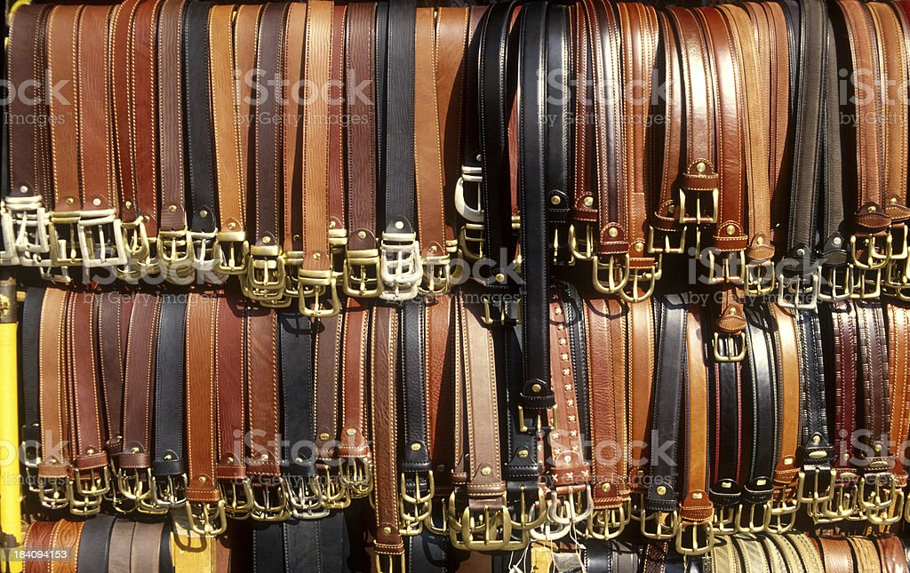 Leather belts royalty-free stock photo