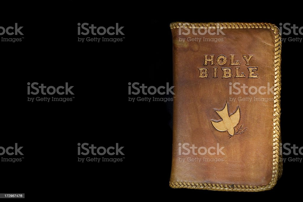 Leather Bible stock photo