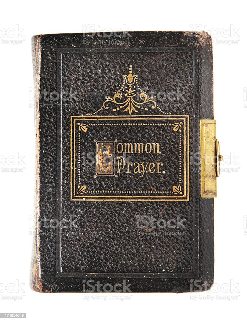 Leather Bible/Book of Common Prayer royalty-free stock photo