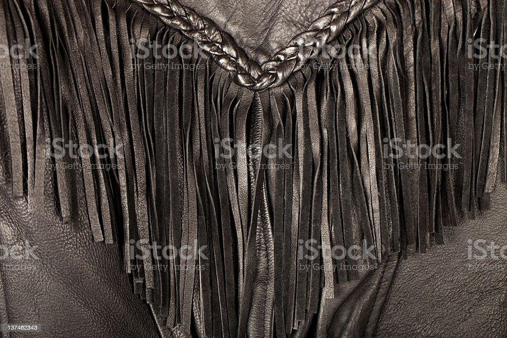Leather Biker Jacket (details) stock photo