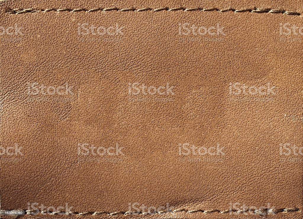 Leather blank jeans label royalty-free stock photo