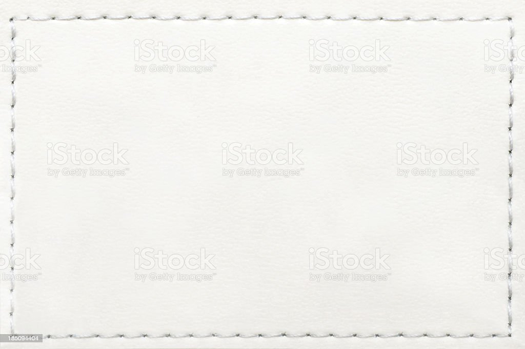 Leather Blank Jeans Label stock photo
