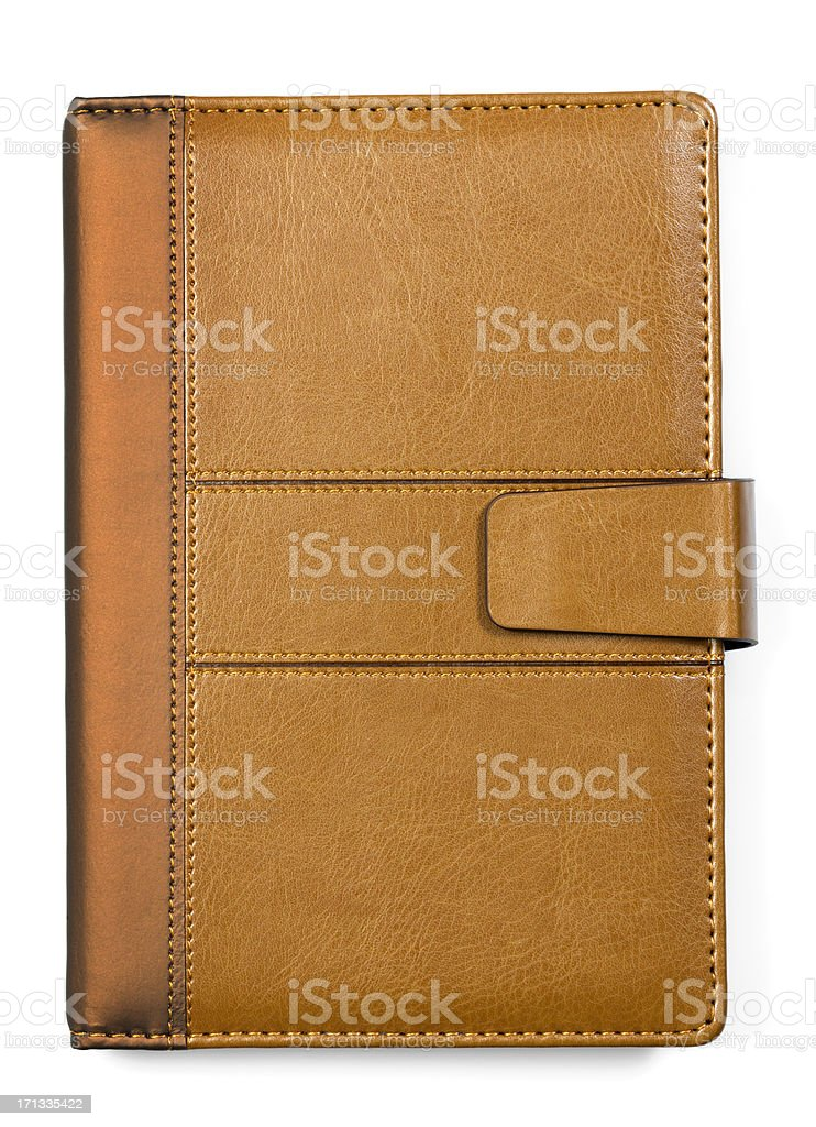 Leather Book- Diary Notebook Cover stock photo