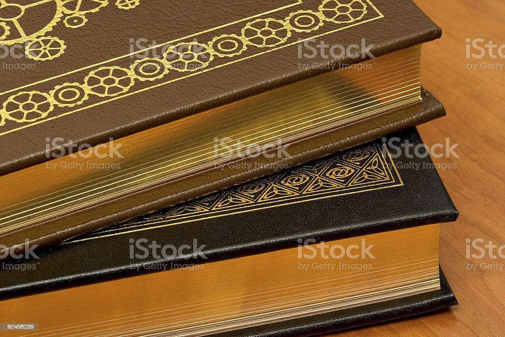Leather Books royalty-free stock photo