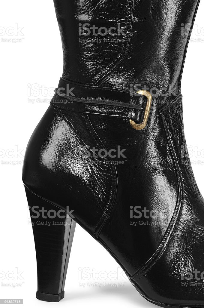 Leather boot texture. stock photo