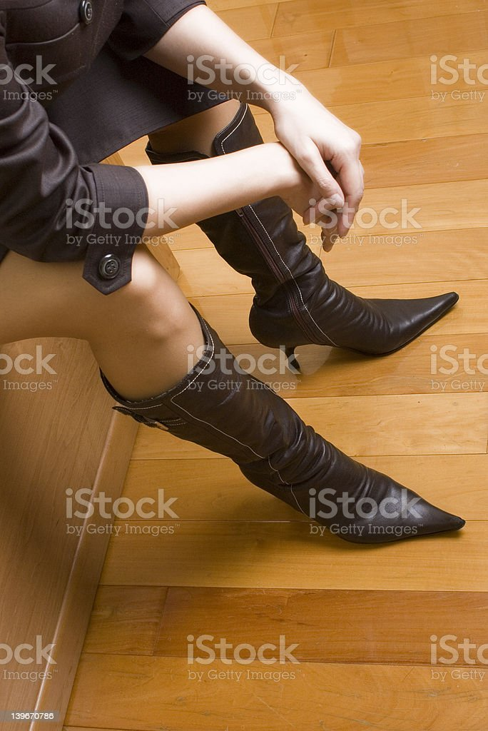 leather boots royalty-free stock photo