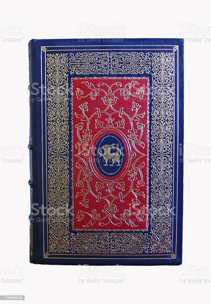 Leather Bound Antique Book stock photo