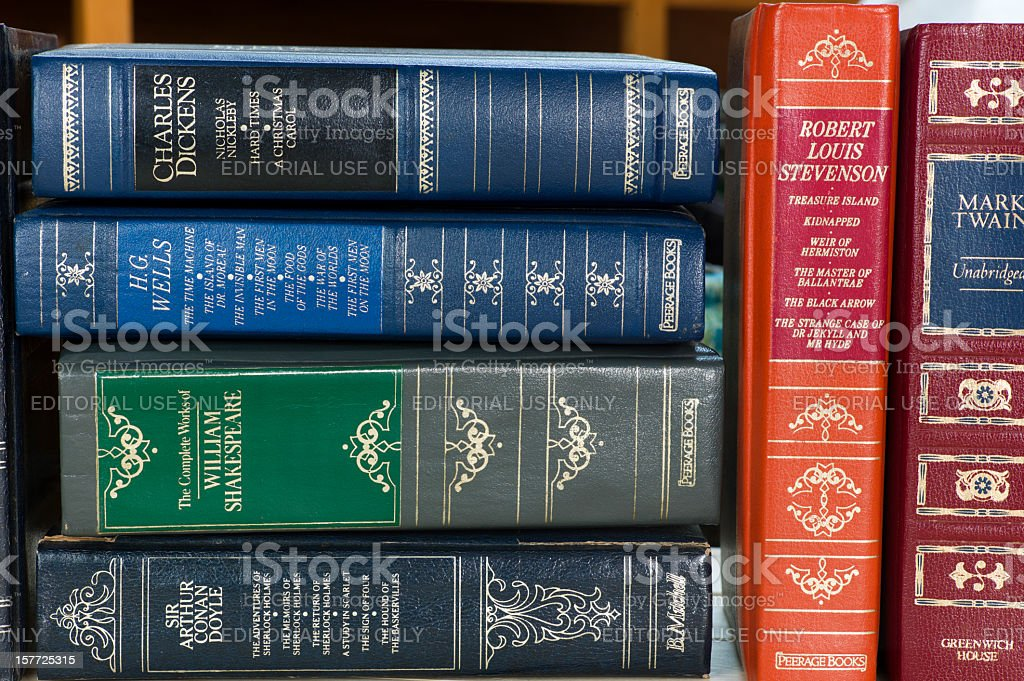 Leather Bound Books. royalty-free stock photo