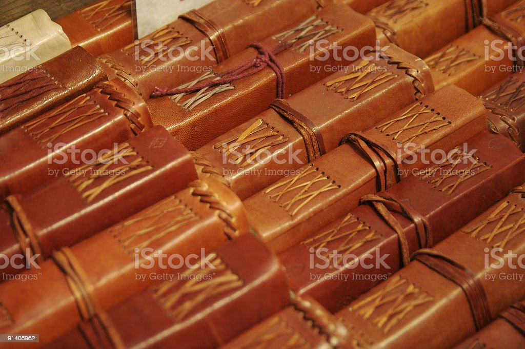 Leather bound books... royalty-free stock photo