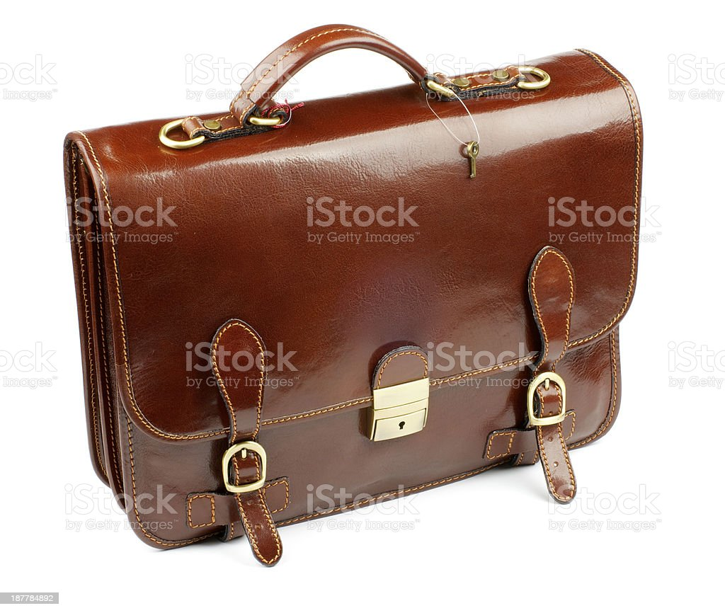 Leather Briefcase stock photo