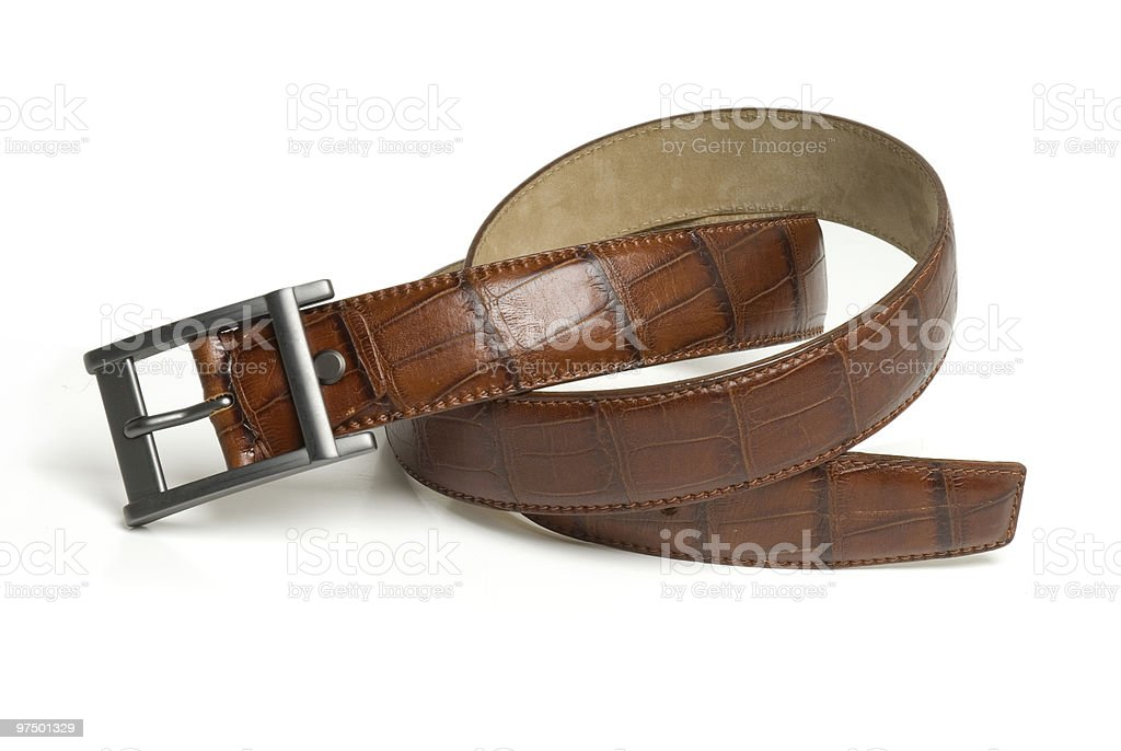 Leather brown belt royalty-free stock photo