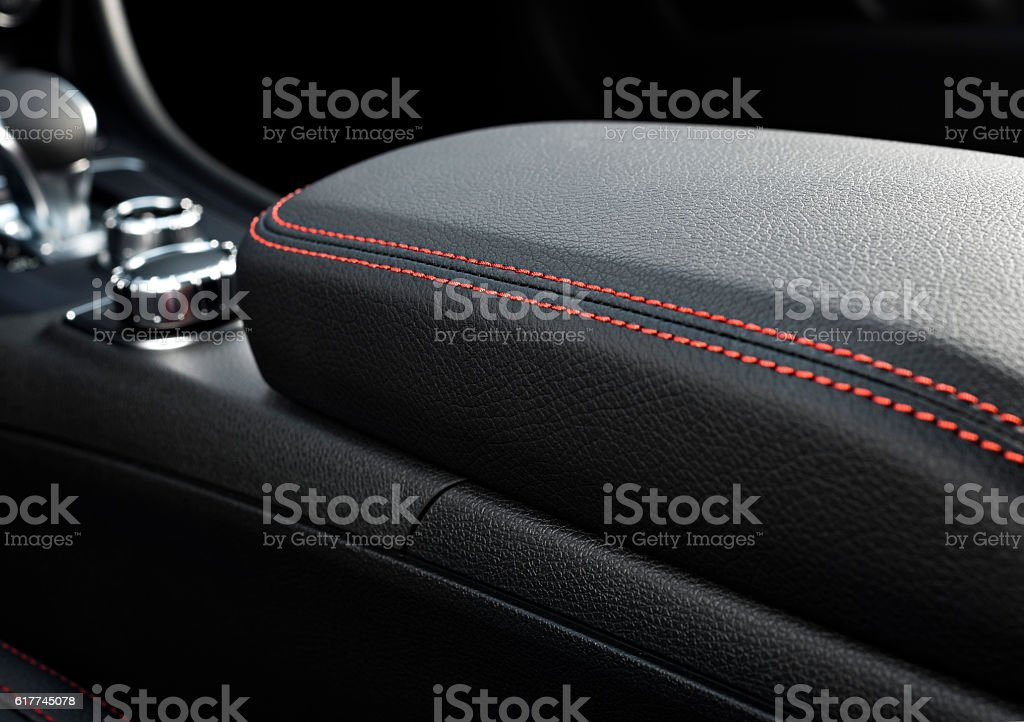 Leather car seats  detail stock photo