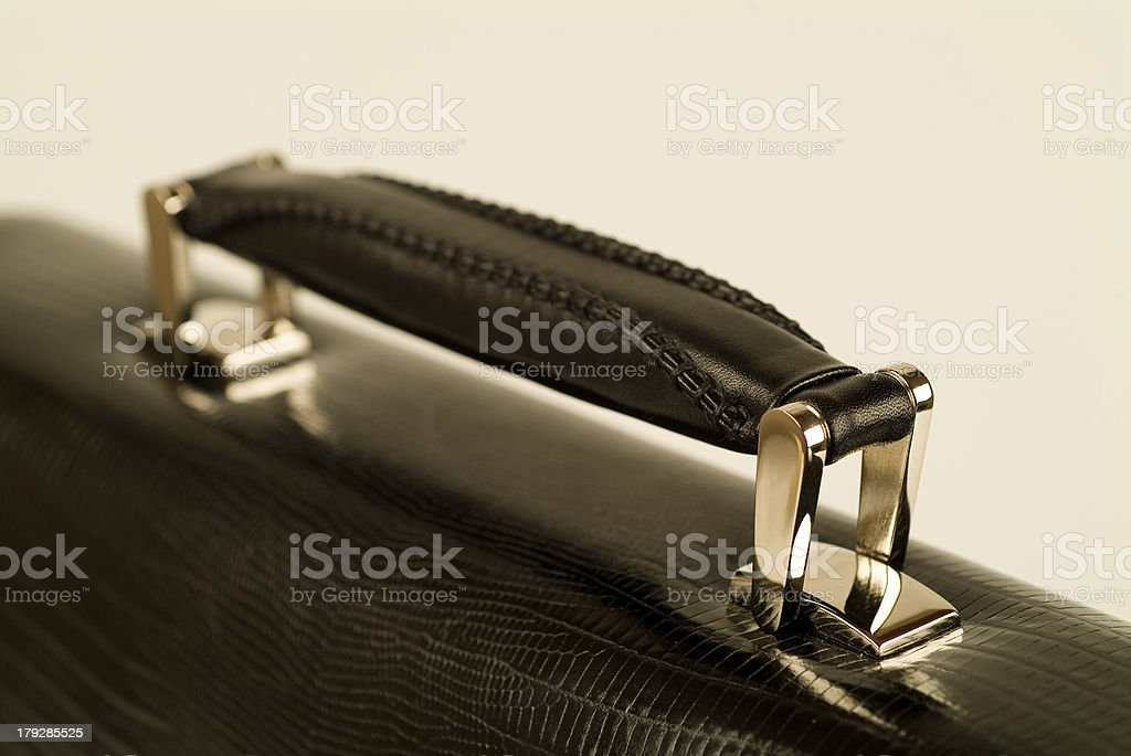 Leather case handle royalty-free stock photo