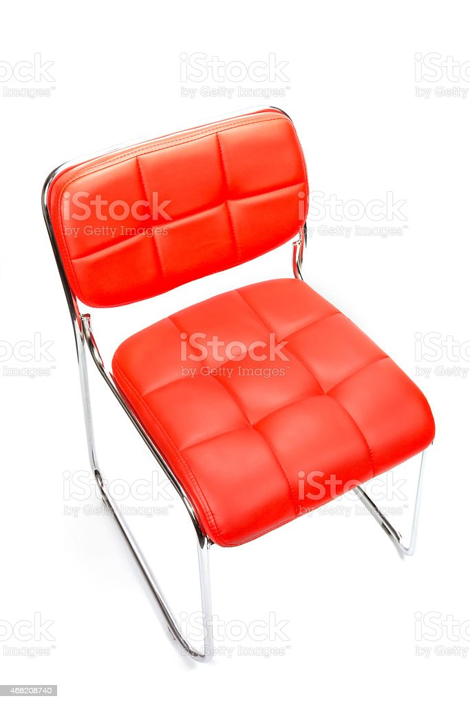 Leather chair isolated on white royalty-free stock photo