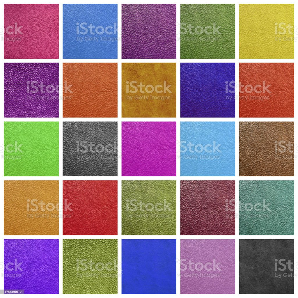 leather collage stock photo