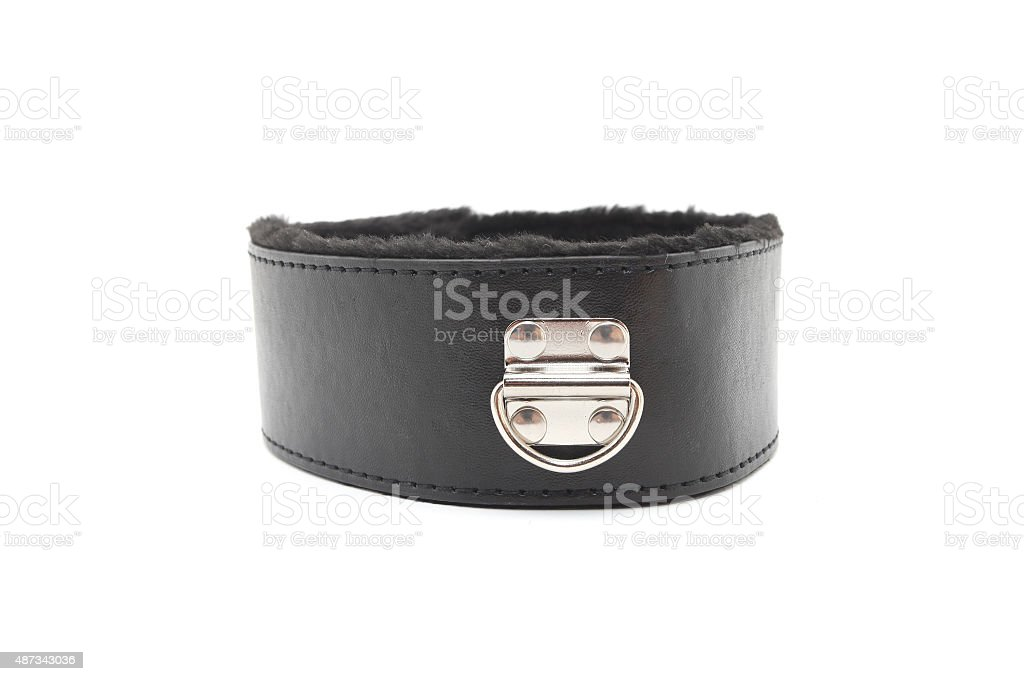 Leather Collar stock photo