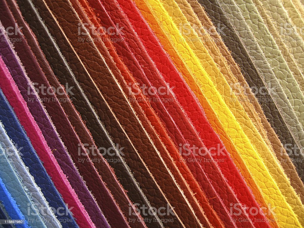 Leather colour samples royalty-free stock photo