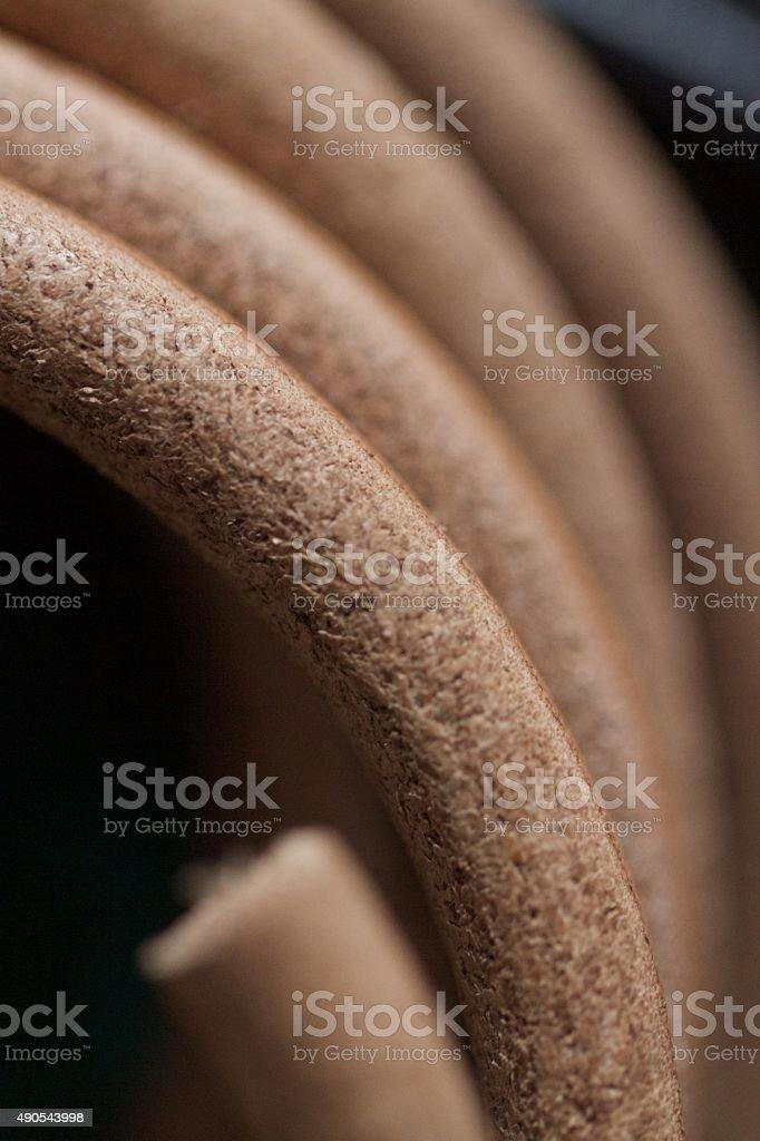 Leather Cord stock photo