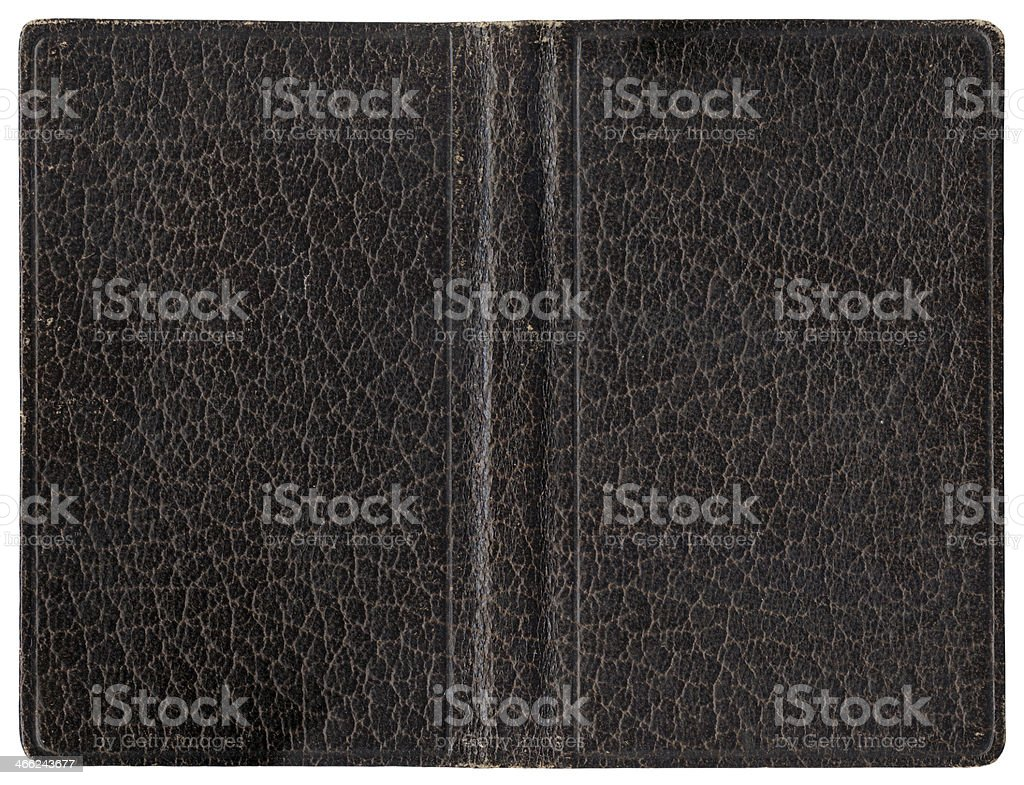 Leather cover - brown royalty-free stock photo
