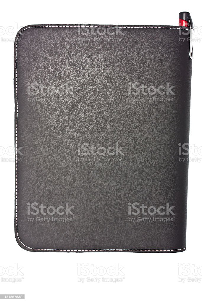 leather cover, cut out on white background royalty-free stock photo