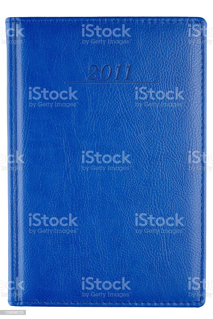 Leather cover of notebook stock photo